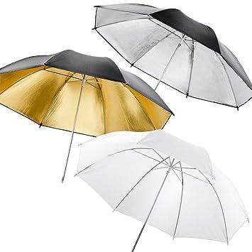 Walimex 14957 - Juego de paraguas réflex y transparente de 109 cm, multicolor