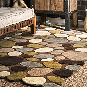 Superior NuLOOM Brown Hand Tufted Pebbles Area Rug, ...