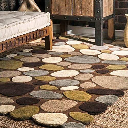 nuLOOM Pebbles Hand Tufted Wool Rug, 5 x 8 , Brown