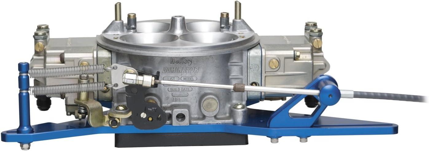 Carburetor Throttle Cable Bracket Kit Blue w// Return Springs and Mount
