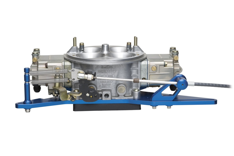 Lokar 1010118 Black Push/Pull Throttle Cable Mounting Bracket and Spring Return Kit for 4-Hole Plenum