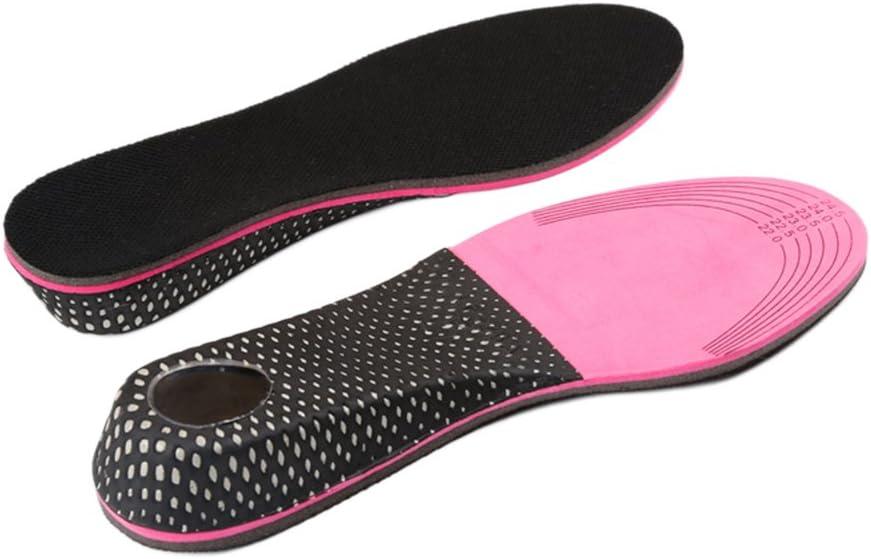 Healifty Par de Plantillas para Pie Plano Plantillas para Zapatos con Alzas Elevadora 3CM de EVA Invisible para Mujer y Hombre Negro y Rojo
