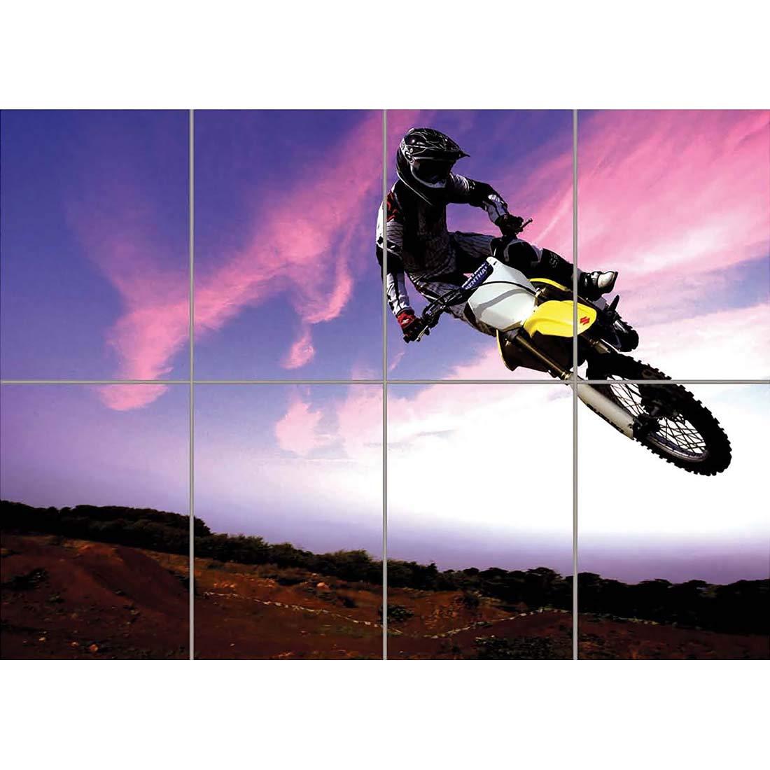Amazon Motocross Dirt Bike Stunt Giant Poster Art Print X3205