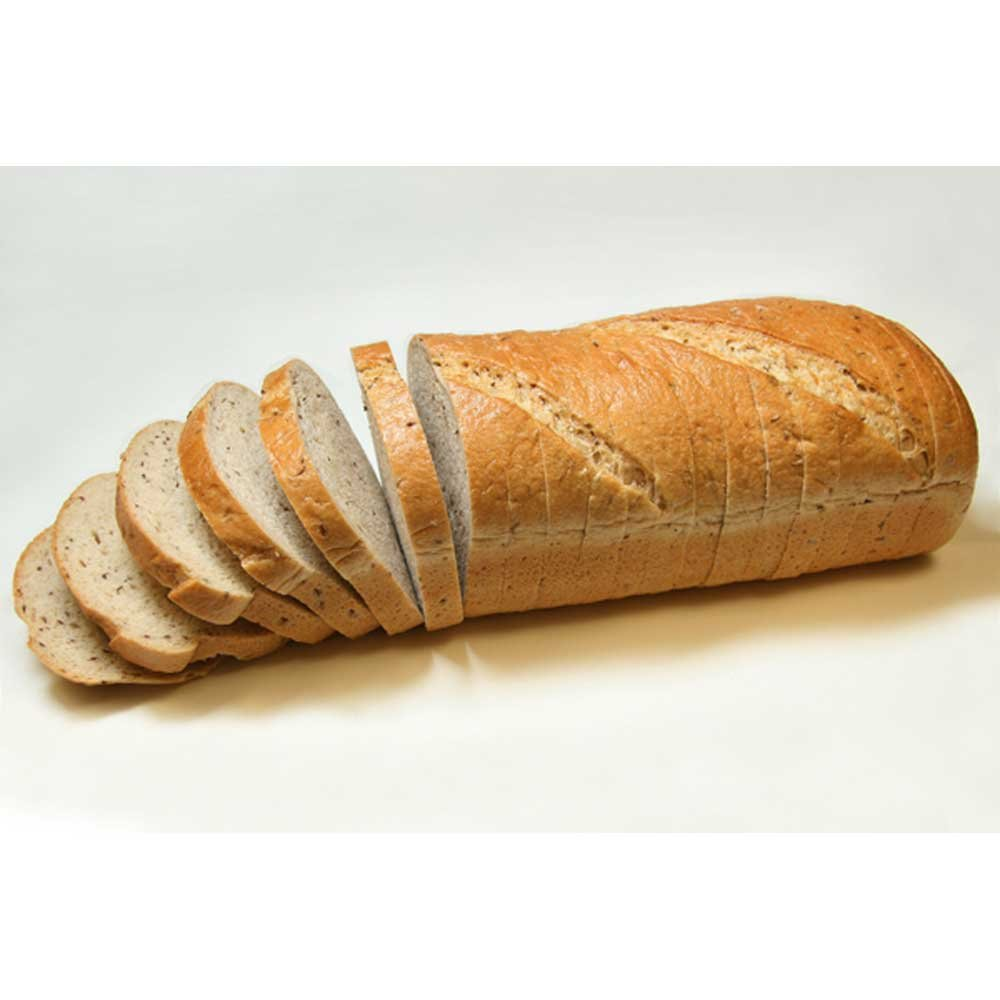 Rotellas Oval Sliced Rye Bread Loaves, 5/8 inch - 6 per case.