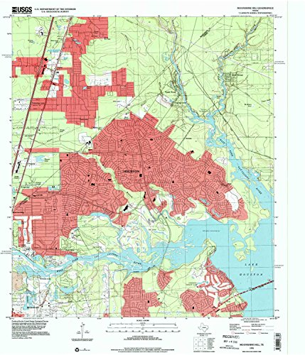 Moonshine Hill TX topo map, 1:24000 scale, 7.5 X 7.5 Minute, Historical, 1995, updated 2000, 26.9 x 23 IN - - Jordon Creek