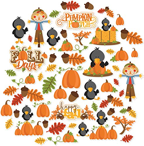 Paper Die Cuts - Fall Days - Over 60 Cardstock Scrapbook Die Cuts - by Miss Kate Cuttables