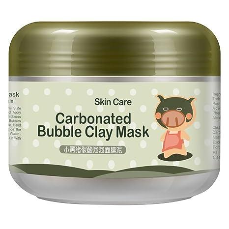 Máscara de arcilla de burbujas carbonatada Travelmall, máscara de oxígeno transparente profundo, mascarilla de