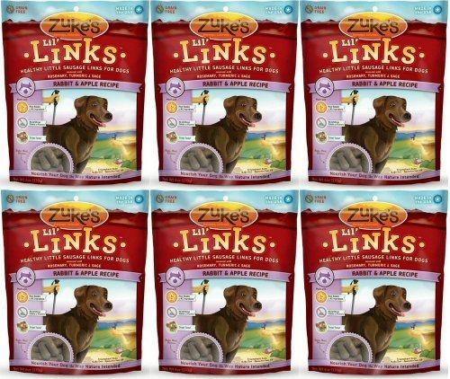 Zuke's Lil' Links Healthy Little Sausage Links for Dogs, Rabbit, Pack of 2