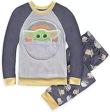 Baby Yoda Mandalorian Star Wars Fleece Pajamas Boys Size 10//12 Free Shipping!