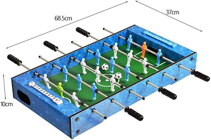 YQSHYP Juguete de Madera, Juegos de Mesa de futbolín y Accesorios, Mini Fun, portátil, futbolín Fútbol Tableros de fútbol recreativo, 68.5x37x10cm: Amazon.es ...
