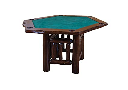 Groovy Amazon Com Live Edge Rustic Red Cedar Hexagon Game Table Download Free Architecture Designs Licukmadebymaigaardcom