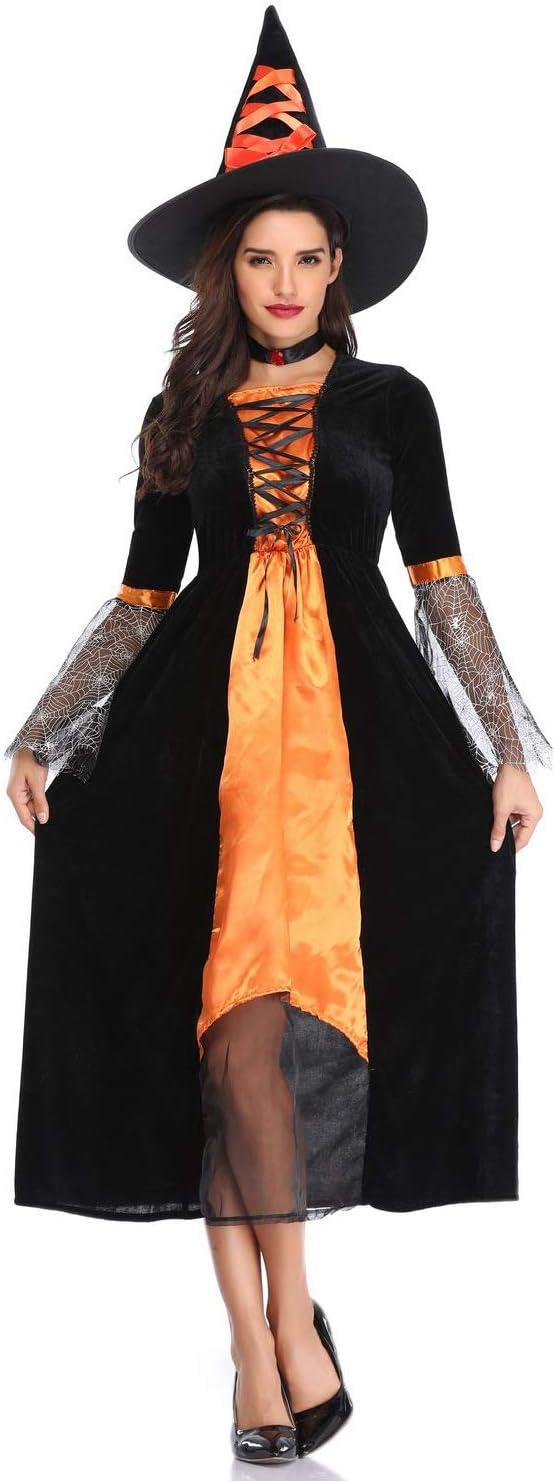 CJJC Disfraz de Bruja Vampiro Diablo, Tela de araña, Tirantes ...