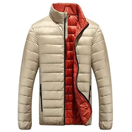 SRL Casual Ultralight Chaquetas de Pato para Hombre Abrigo de otoño e Invierno Hombres Chaqueta de