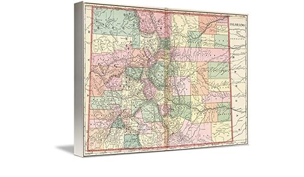 Amazon.com: Imagekind Wall Art Print Entitled Colorado Map ...