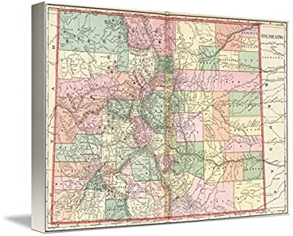 Amazon.com: Imagekind Wall Art Print Entitled Colorado Map of Cities ...
