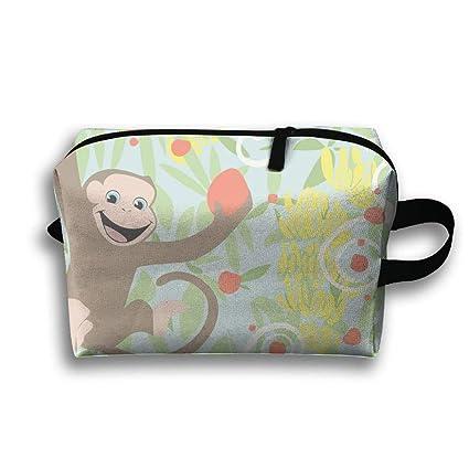 963bb96e46fc Amazon.com: XJJPAN Crazy Monkey Portable Travel Makeup Cosmetic Bags ...