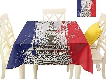 Amazon.com : WilliamsDecor Picnic Cloth Paris, Grunge Style ...