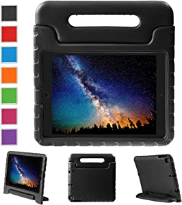 NEWSTYLE Apple iPad Air 2 Case Shockproof Case Light Weight Kids Case Super Protection Cover Handle Stand Case for Kids Children for Apple iPad Air 2 (2014 Released) - Black Color