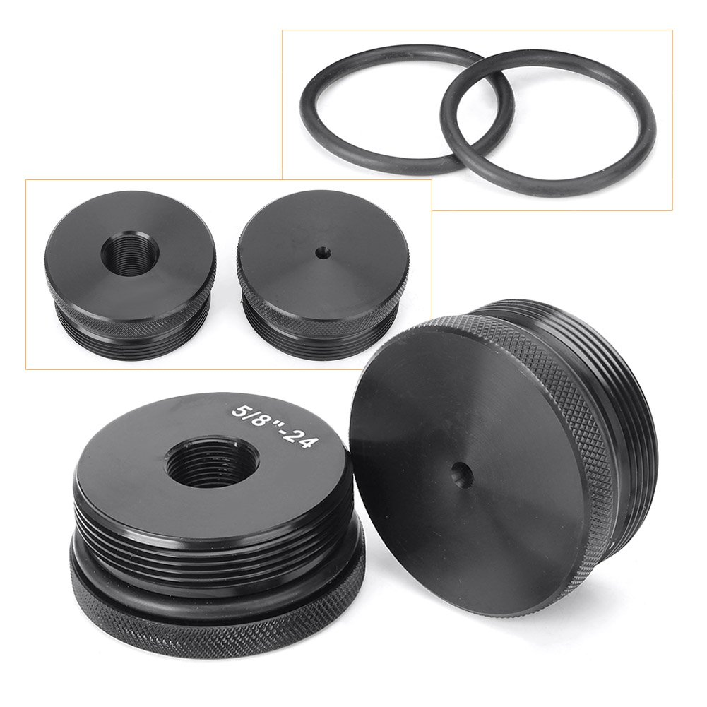 GZYF Fuel Filter End Cap Set - 5/8' X24 & Center Marked, Black