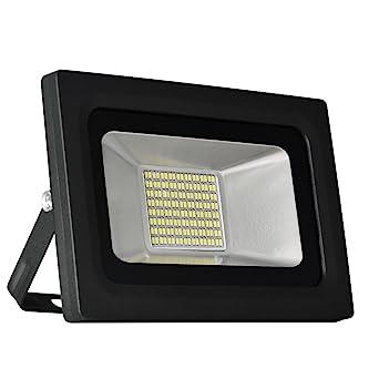 Solla® Foco proyector LED 30W para exteriores, blanco diurno 6000K ...