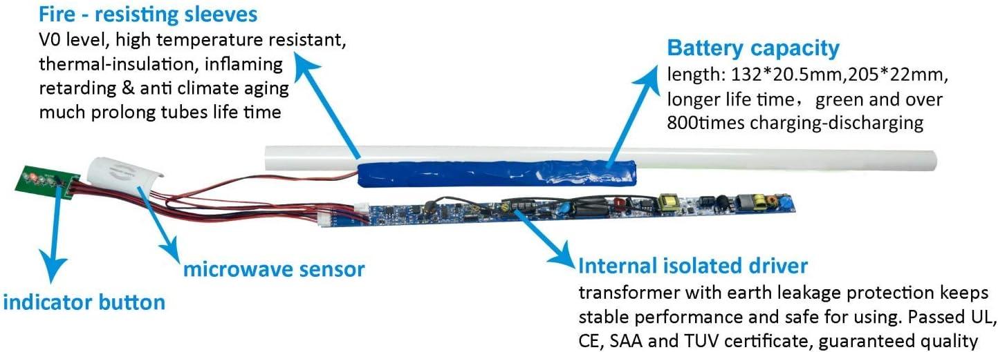 3500K ETL and DLC 4 ft EBBU Tube Emergency T8 Tube