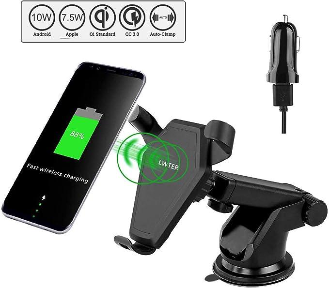 Lwter Qi - Cargador inalámbrico para Samsung/iPhone / Smartphone ...