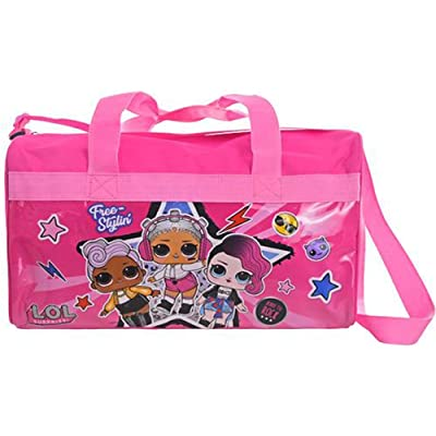 LOL Surprise 600D Polyester Duffle Bag with Printed PVC Side Panels
