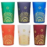 Product review for Casablanca Market TTC0065 Tea Time Collection Moroccan Glasses, Green, Orange, Purple, White, Blue, Deep Red