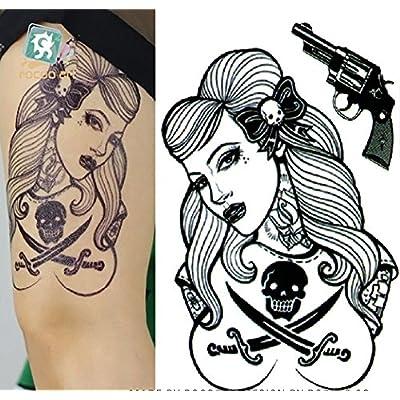 Adhesivo de tatuaje temporal para arte corporal mujer Sexy adhesivo tatuaje