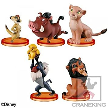 Set 5 Figures for Collectors The Lion King Disney Characters - 100% Official Banpresto WCF