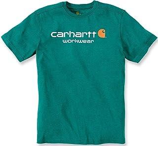 Carhartt T-Shirt Core Logo T-Shirt S/S Fired Brick Heather-XL