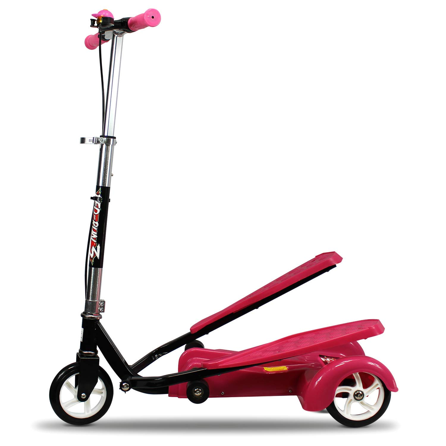 Ped-Run3 Kids Scooter for Boys and Girls with Advanced Dual Pedal Action, Bike Scooter Hybrid (Pink) by Ped-Run3
