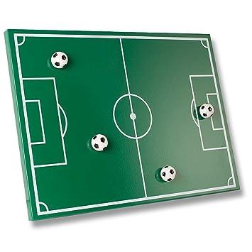 Magnettafel Fussballfeld Memo Pad Soccer Field