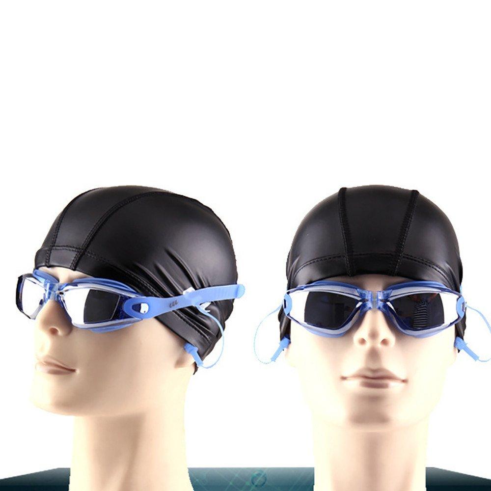 CapsA Anti-Fog Goggles for Men Women Swimming Glasses with Earplugs Large Frame Glasses