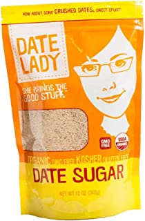 product image for Date Lady Pure ORGANIC Date Sugar NON-GMO, VEGAN, GLUTEN-FREE & KOSHER A Complete Whole Food Sweetener and Great Sugar Alternative in Baking 12oz 1