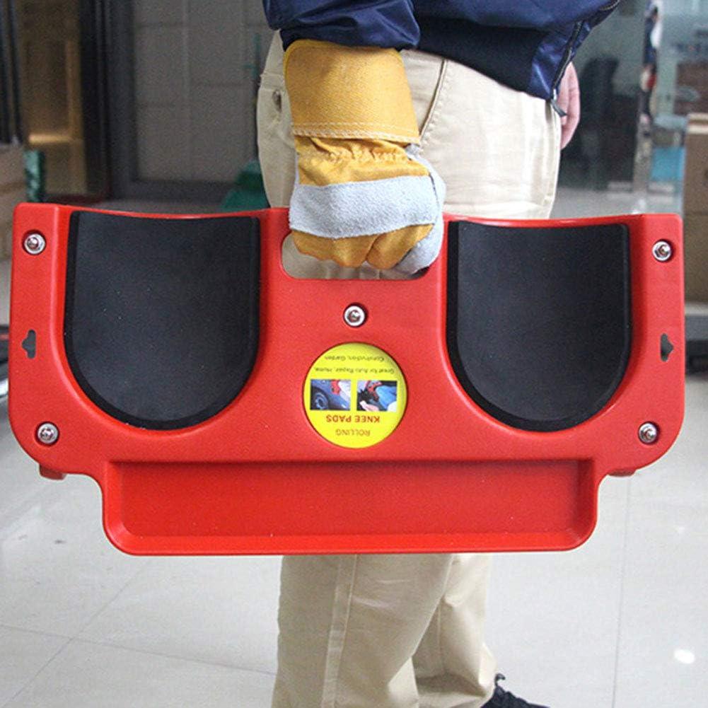 Casinlog Rodillera con ruedas de espuma acolchada para colocar baldosas o vinilo auto reparaci/ón de rodillas
