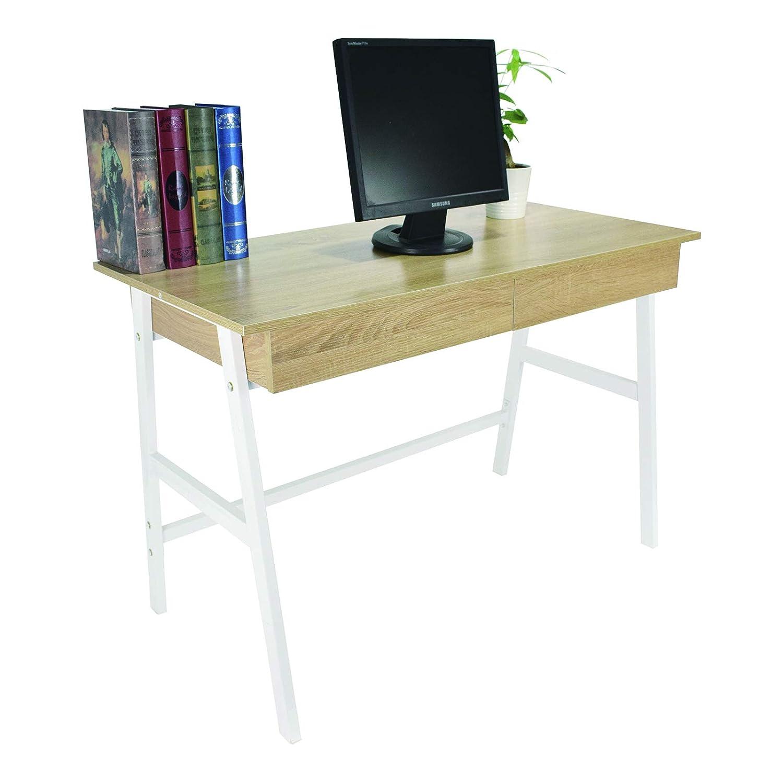 WOLTU® TS59sz Scrivania Computer per Ufficio Studio Tavolo da Lavoro Porta PC Scaffale in Legno 110x55x75 cm