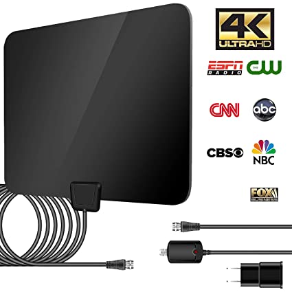 TV Antenna Indoor HDTV Digital Amplified Clear Antenna 50-80 Miles Range HD Digital TV