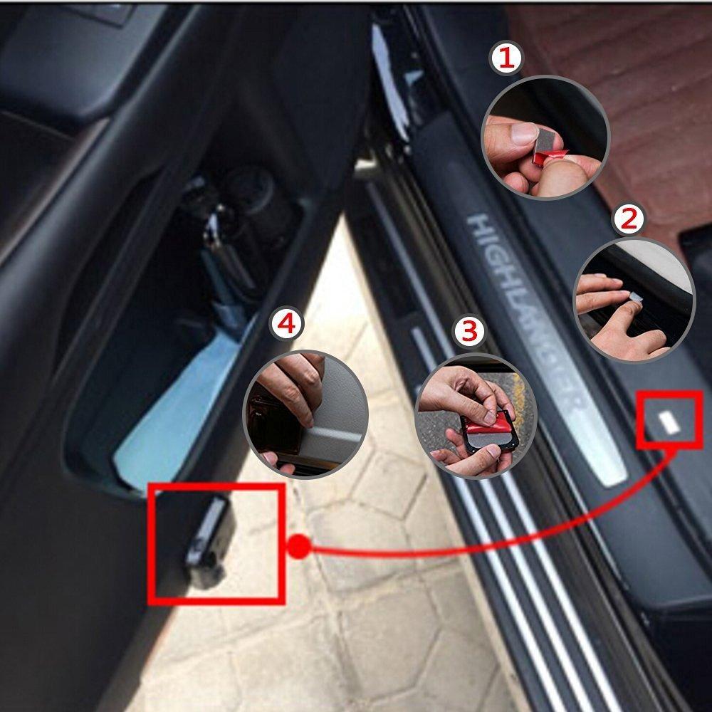 con sensore magnetico 2 pezzi per illuminazione portiera auto proiettore wireless di luce laser LED per portiera auto proiezione di un welcome logo blu a forma di pipistrello stile Batman