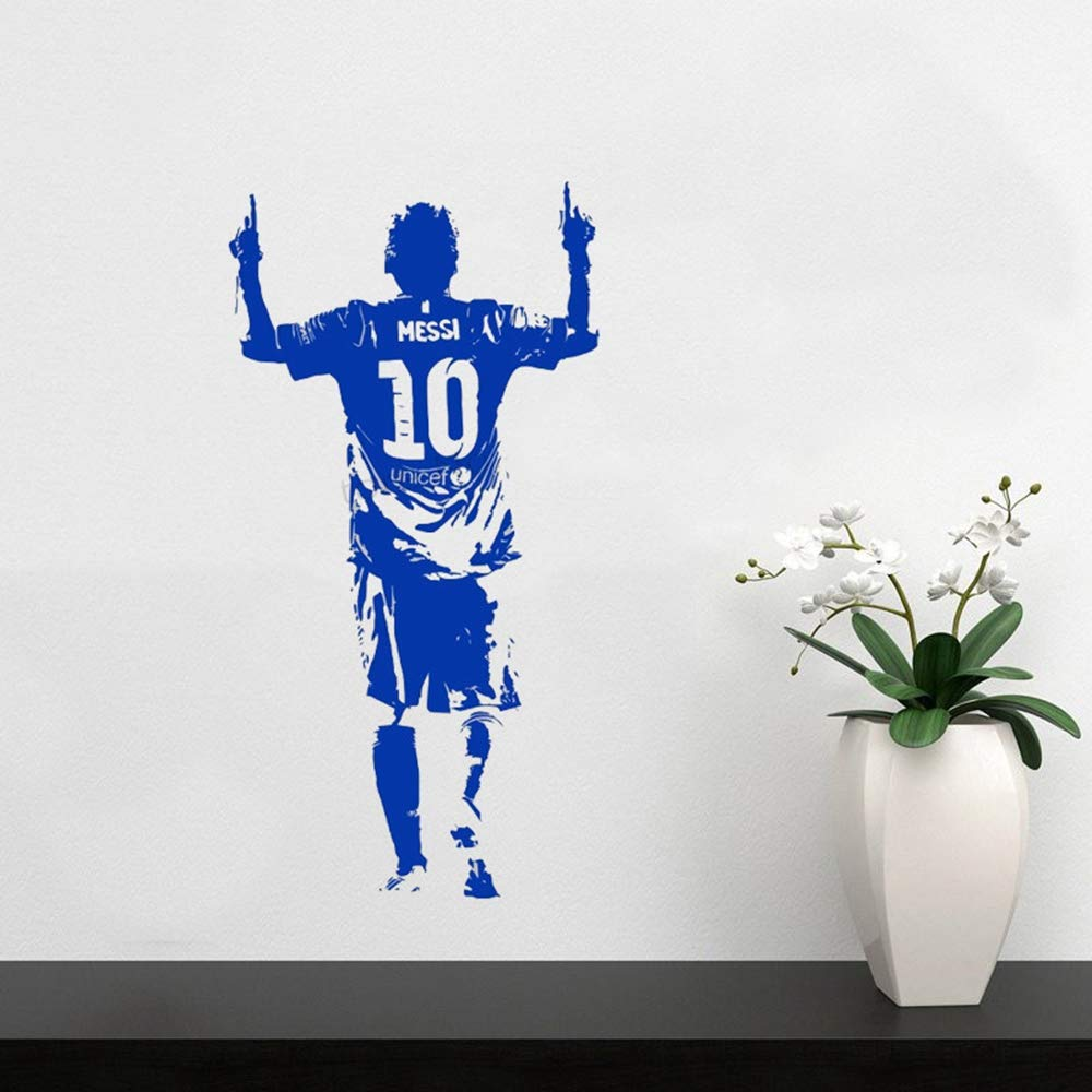 pegatina de pared Tatuajes de pared de fútbol Superstar Lionel ...