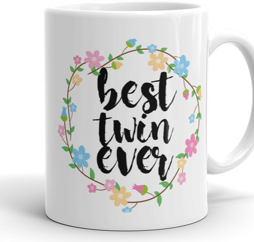 Amazon.com: Best Twin Ever Mug - 11 oz Ceramic Coffee Cup Perfect ...