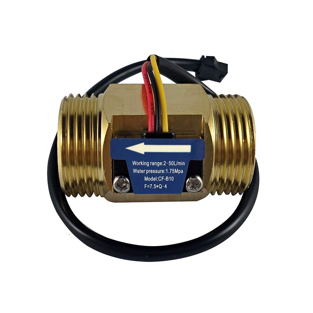 Digiten G1'' Male Thread Water Flow Hall Sensor Switch Flowmeter Counter 2-50L/min