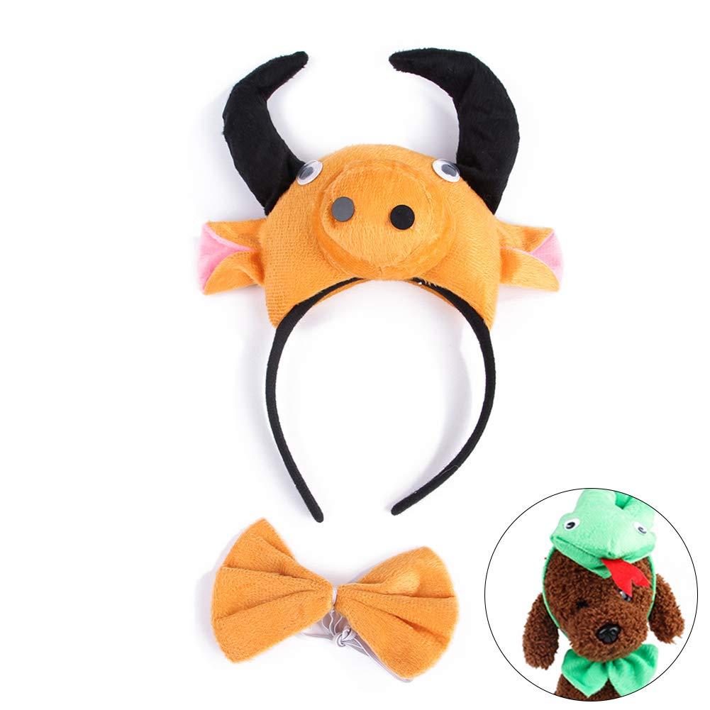 Traje de Cosplay Diadema Bowtie Vestir Conjunto para la Fiesta de Halloween vaca