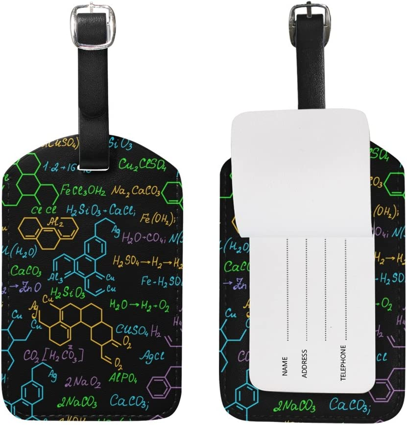 Chemistry Luggage Tags Suitcase Labels Bag Travel Accessories Set of 2