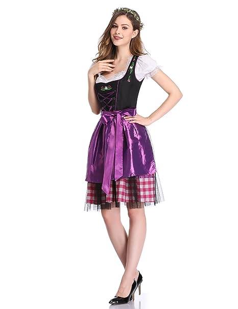 GloryStar - Vestido alemán para Mujer (3 Piezas) e6ff942e76e
