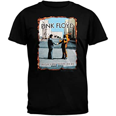 Amazon.com: Pink Floyd - Mens Wish You Were Here Burnt T-Shirt ...
