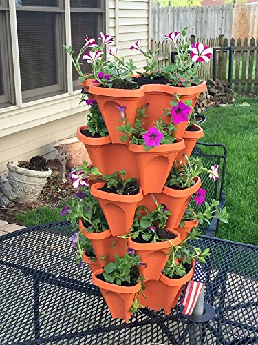 5 Tier Stackable Strawberry Herb Flower And Vegetable