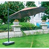 Garden Winds OPEN BOX Replacement Canopy Top Cover for 2011 Southern Butterfly Umbrella- Beige