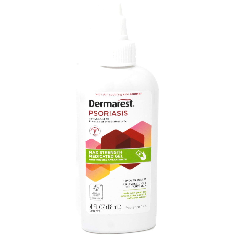 Dermarest Psoriasis Medicated Treatment Gel | Fragrance-Free | 4-Ounces | (1-Pack)