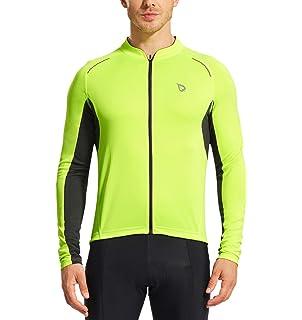 Amazon.com   Baleaf Men s Cycling Jacket Thermal Jersey Long Sleeve ... 36b1f4918